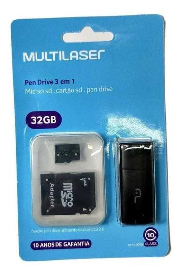 Cartão De Memória Micro Sd 32gb Multilaser