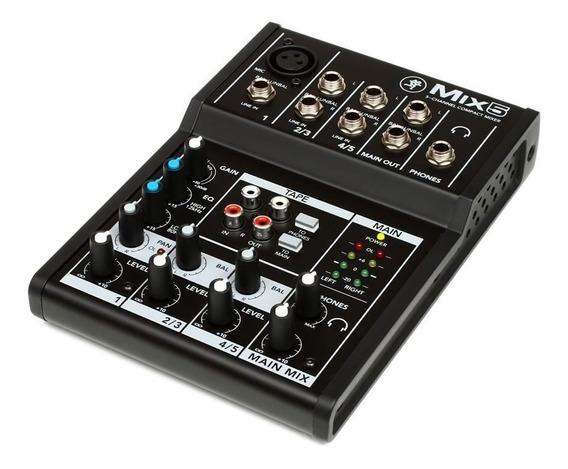 Mix5 Mackie Mixer 5 Canais Mesa Som Áudio Mix Áudio Compacto