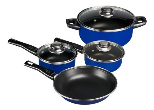 Imagen 1 de 6 de Batería De Cocina Brillante 7 Piezas Cinsa Varios Colores