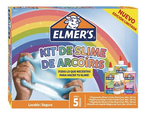 Kit Slime Arcoiris Elmers 5 Piezas
