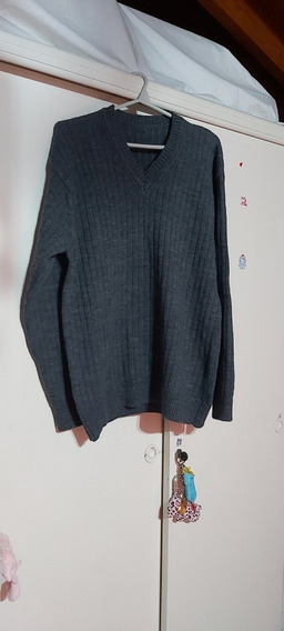 Sweater Pullover Hombre Gris