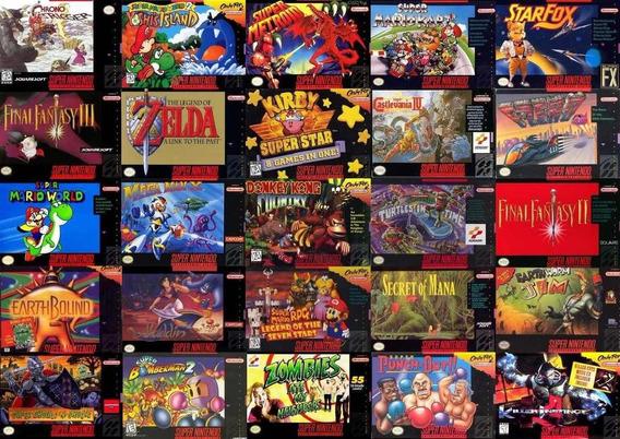 1450 Jogos Roms De Super Nintendo Para Computador + Emulador