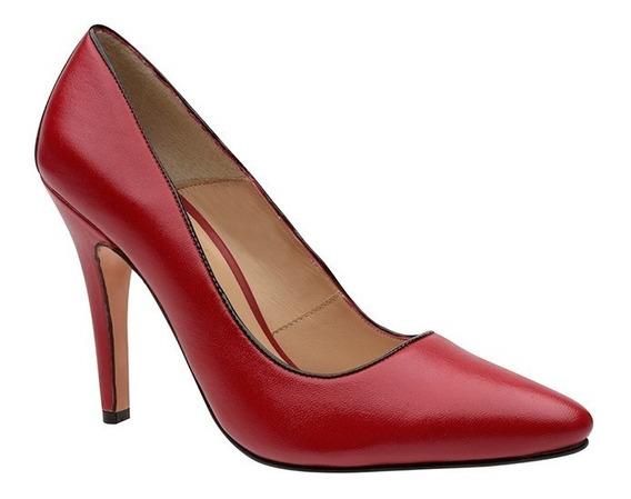 Zapatilla Salón Rojo/negro Colores Marca Charlotte