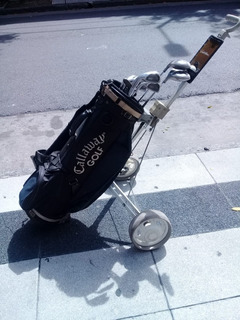 Juego De Palos De Golf Zurdos + 2 Bolsos + 1 Carro