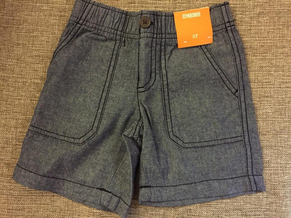 Short Gymboree Niños Talle 2t Importado Usa Color Azul Gris
