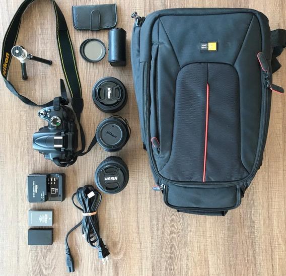 Kit Nikon D5000 Com Lentes E Acessórios + Curso Nikon Em Dvd