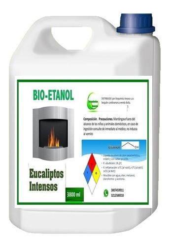 Bioetanol Combustible Chimeneas Con Aroma Galón