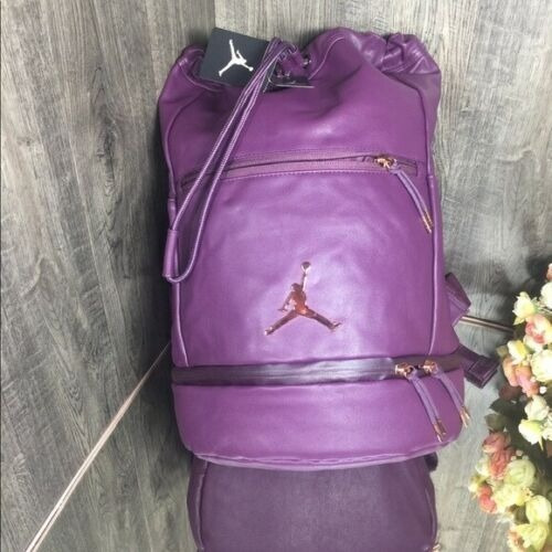 Jordan Backpack Leather City Portage Piel Vino Unisex 9a0023