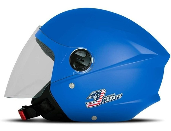 Capacete Pro Tork New Liberty Three Elite Sky Blue Tam.56