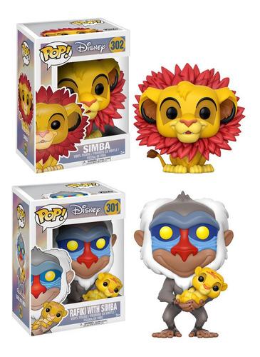 Disney Funko Pop Rafiki Simba Bebé Y Simba El Rey Leon
