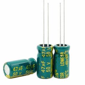 10pç 50v 47uf Capacitor Eletronico