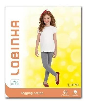 Calça Legging Cotton Infantil Lobinha Rosa Fruti
