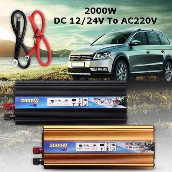 Solar Inversor Energía Solar 2000w 12v / 24v Corriente Conti