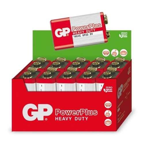 Caixa Gp Powerplus 9v Heavy Duty 10 Baterias