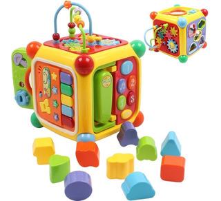 Cubo Musical Con Actividad Juguete Educativo Encastre 3838