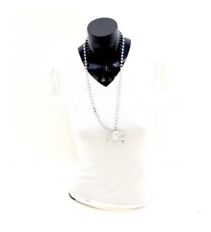 24 Pack Collar Color Plata De Plastico Con Calavera Envio/g