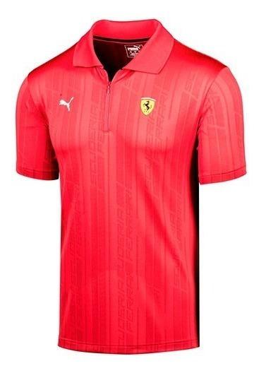 Playera Puma Sf Ferrari Polo 576912-01 Rojo Caballero Pv