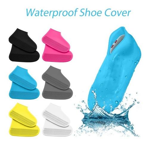 Zapatones Siliconados Protectores De Calzado Virus Y Lluvia