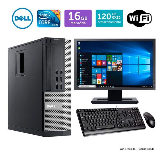 Dell Optiplex 9020sff Barato I3 16gb Ssd120 Mon19w Brinde