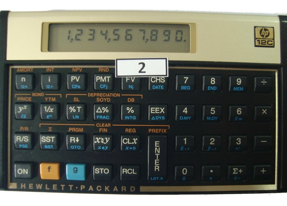 Calculadora Financeira Hp 12c Gold Português Modelo 02