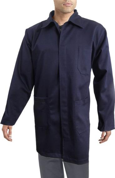 Bata Para Trabajo Industrial Azul Marino 100% Algodón 30-42