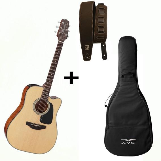 Violão Takamine Folk Gd15 Ce Ns Elétrico Aço + Correia + Bag