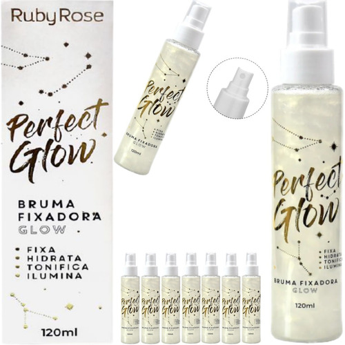 Imagem 1 de 7 de Bruma Fixadora Perfect Glow Ruby Rose Hb-334 120ml