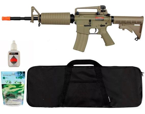 Rifle Airsoft Cyma M4a1 Cm503 Tan + Bbs + Capa + Óleo