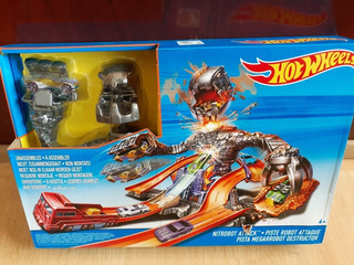 Oferta! Hot Wheels Pista Ataque Robot Nuevo
