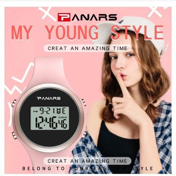Relógio Feminino Led Digital Synoke Relógio Moda Top Rosa