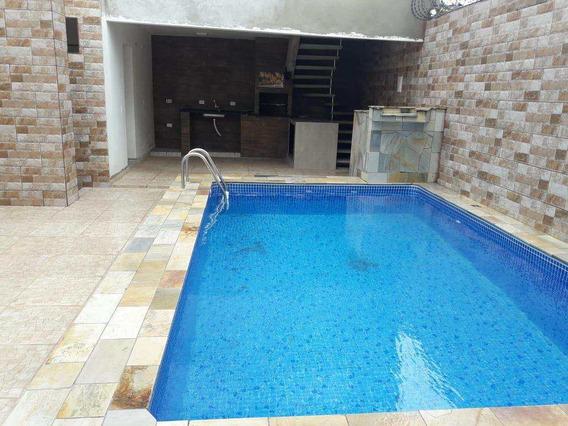 Casa Com 3 Dorms, Balneário Gaivotas, Itanhaém - R$ 320.000,00, 170m² - Codigo: 866 - V866