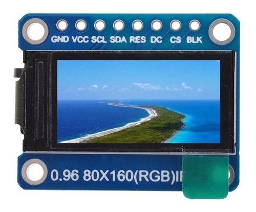 Display Pantalla Tft 0.96  Ips 8p Spi Hd 65k Full Color Lcd