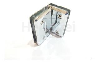 Bisagra 90º Cromo Para Puerta Vidrio O Mampara De Baño - Para Vidrio De 8 A 10 Mm. Vidrio - Vidrio