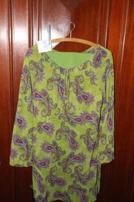 = Roupa Lote 567 Mulher Conjunto Verde 44 Calça Camisa Cia D