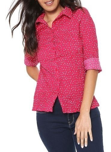 Camisa Feminina Hering Estampada Cores Original