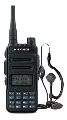 Imagen 1 de 10 de Handy Radio Walkie Talkie Newvision Bibanda 8w Vhf Uhf