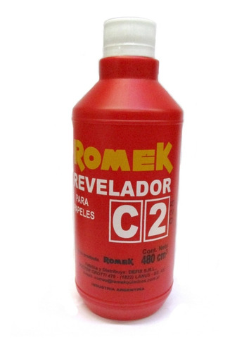 Imagen 1 de 2 de Revelador C2 P/papel Fotografico B Y Negro Romek (9450)