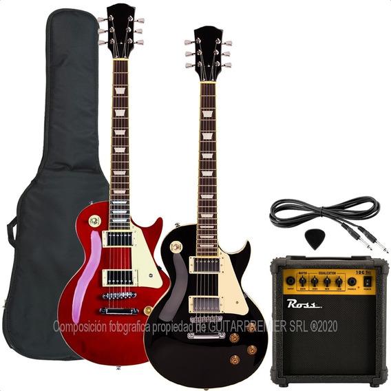 Guitarra Electrica Les Paul + Ampli 10w Funda Acolchada