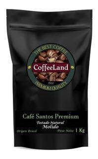 Café Tostado Molido Coffeeland Santos Premium X 1 Kg.