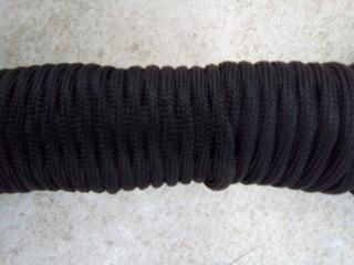 Remate Cuerda Paracord Negra 3mm X 10 Mts $3.50 X Mt