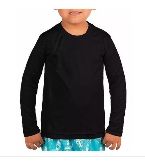 Camisa Térmica Infantil Tecido Com Proteção Manga Comprida