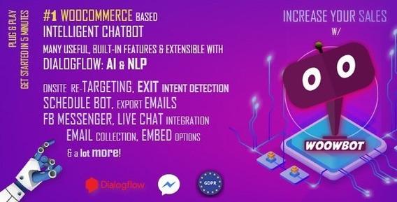 Plugin Woowbot Woocommerce Chatbot Pro