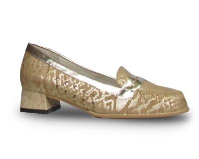 Lauber 410 Zapato Mocasín Tacón Bajo Pie Delicado Mujer