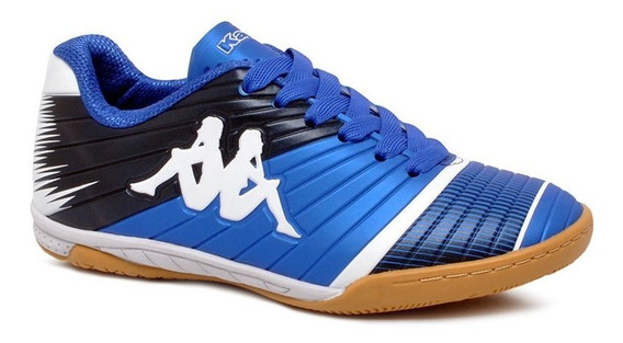 Tênis Futsal Infantil Kappa Striker 2 Azul/branco Original
