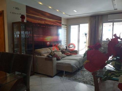 Apartamento Com 2 Dormitórios À Venda, 95 M² Por R$ 850.000,00 - Gonzaga - Santos/sp - Ap10175
