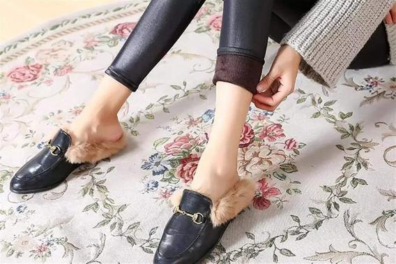 Leggings Tipo Vinipiel Afelpado Por Dentro