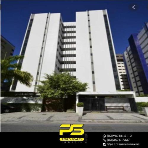 Apartamento Com 3 Dormitórios À Venda, 235 M² Por R$ 699.000 - Tambaú - João Pessoa/pb - Ap3634