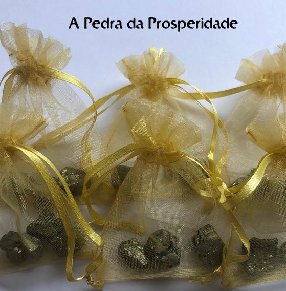 Kit 3 Mini Piritas Bruta Cristal Pedra Natural Prosperidade