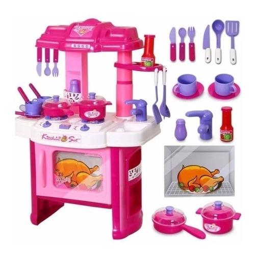 Set Cocina Para Niñas Horno Luz Y Sonido Cocinita Juguete
