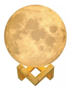 Archy Lampara Luna Moonlight Led Multicolor Base De Madera